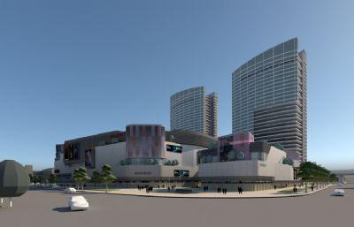 城市大型商场su模型