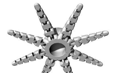 八爪�~,3D打印小玩具STL模型