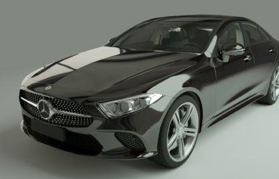 奔驰AMG A级轿车汽车C4D模型