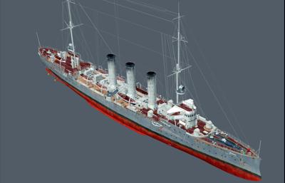 德累斯�D��p巡洋�OBJ模型