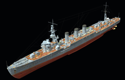 球磨��p巡洋�OBJ模型