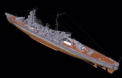 青�~�重巡洋�OBJ模型