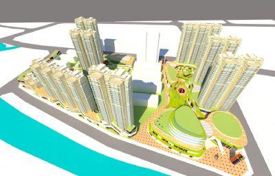 尚街�物中心su模型