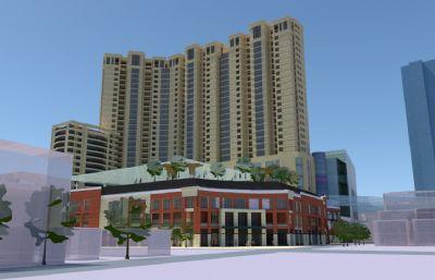 小�^住宅,�物�V�鼍C合�wsu模型