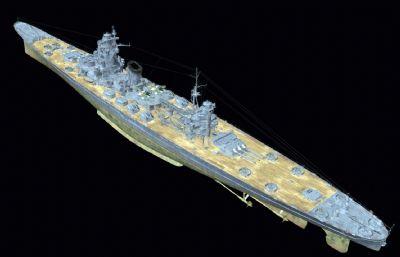 b65型大型巡洋�OBJ模型