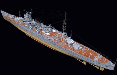伊吹�重巡洋�OBJ模型