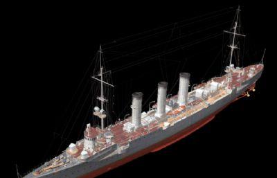 科���格��p巡洋�OBJ模型