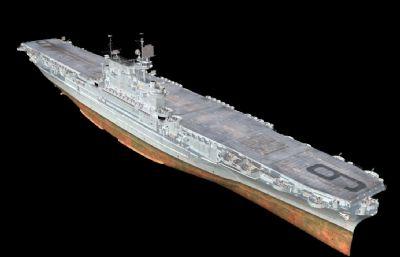 企�I�航空母�OBJ模型