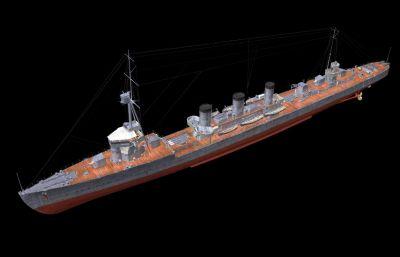 天����p巡洋�OBJ模型