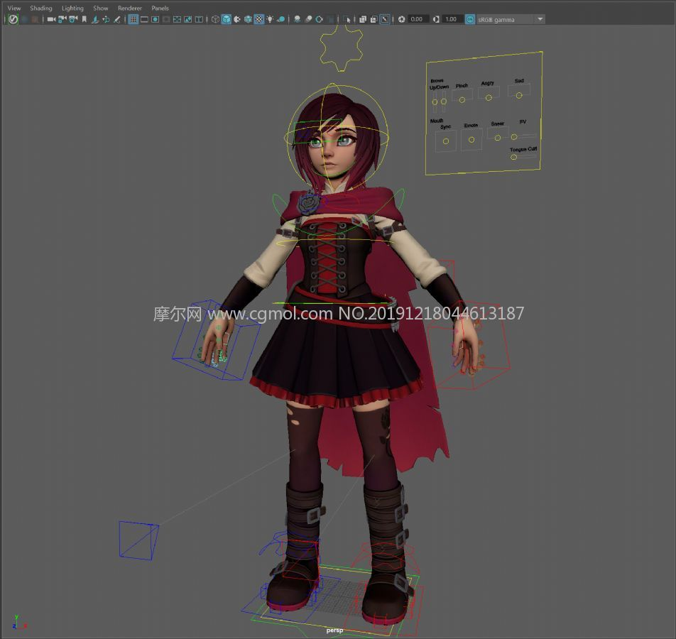 Ruby Rose�比・洛斯,�赢�RWBY女主角maya模型,�Ы�定,�N�D全