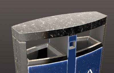 垃圾桶OBJ模型高模