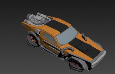 科幻�w行汽�3D模型低模