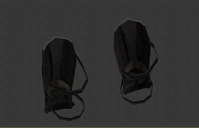 垒球护膝,护具3D模型