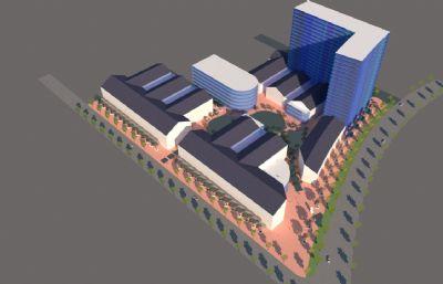 商务楼,办公楼su模型