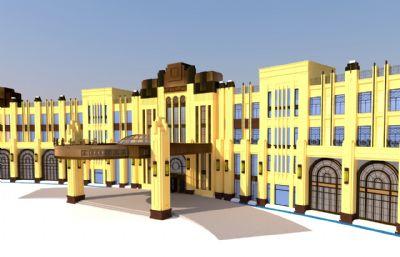 现代酒店su模型