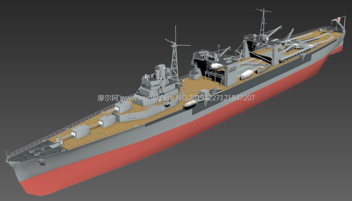 �合��日�M�水上�w�C母�3D模型,MAX,FBX�煞N格式