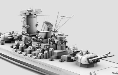 日本�合��大和��鹆信�3D模型灰模