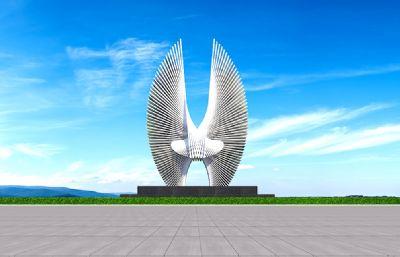 展翅雕塑�O�3D模型二