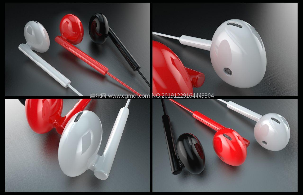 真��耳戴式耳�CC4D模型,精��Y��
