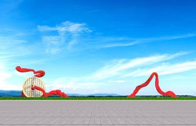 �z�I之路雕塑�O�3D模型