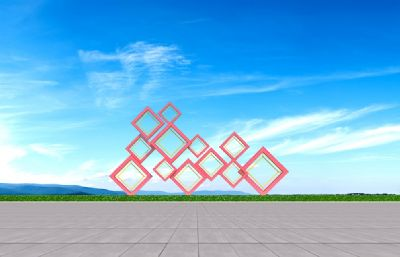 菱形-核心�r值�^雕塑�O�3D模型