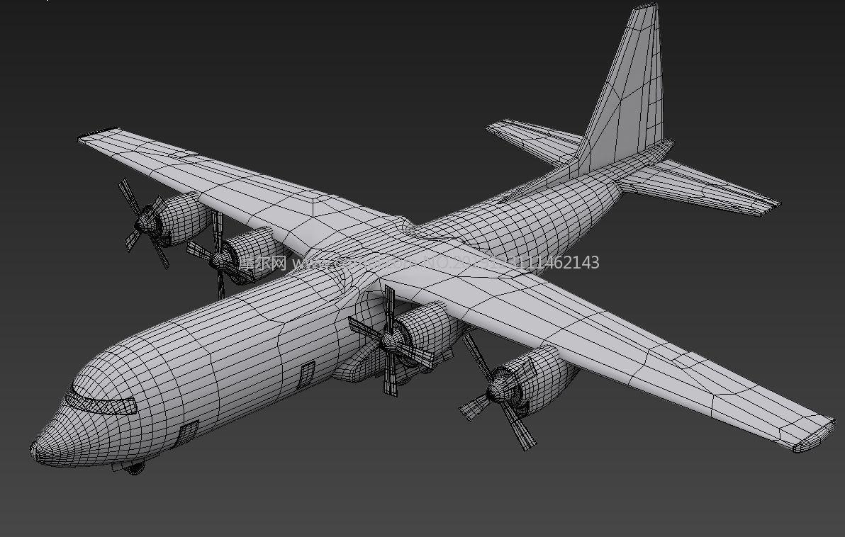 C-130大力神�\��C3D模型白模