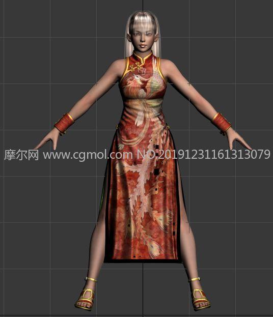 死或生5中的雷芳旗袍�b扮3D模型