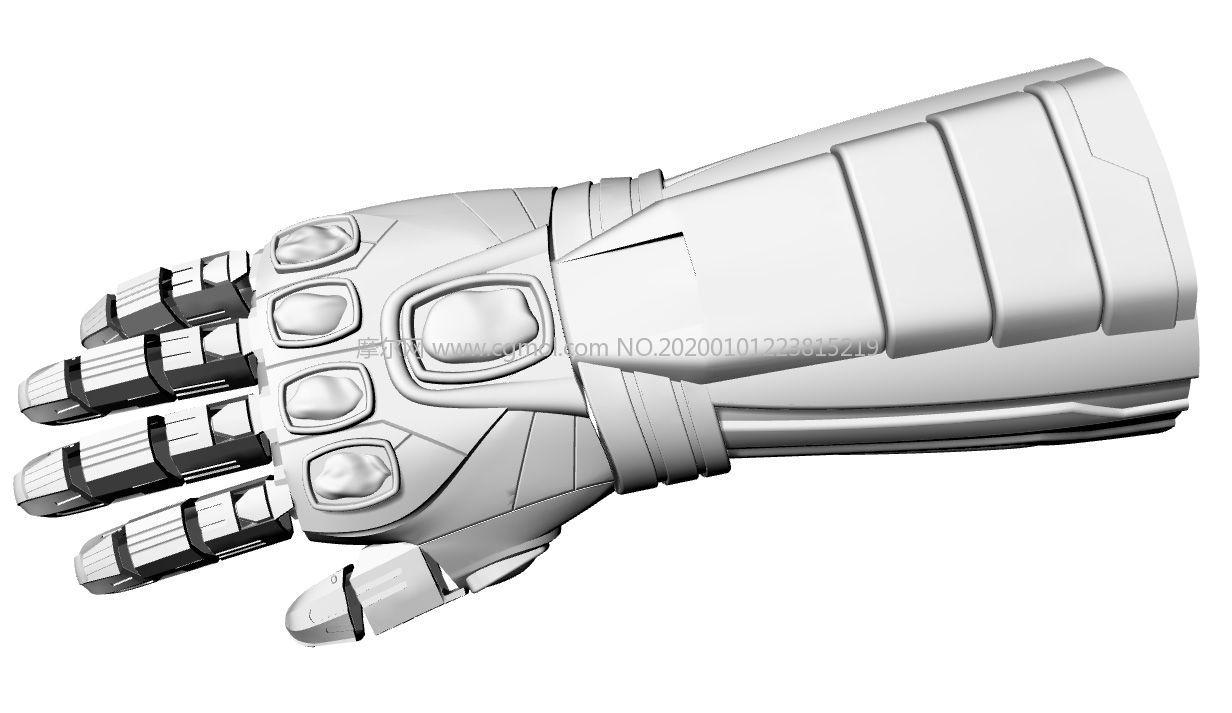 可穿戴的�绨约{米�o限手套STL模型,17��STL文件
