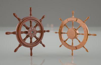 �������船舵C4D模型,精��Y��