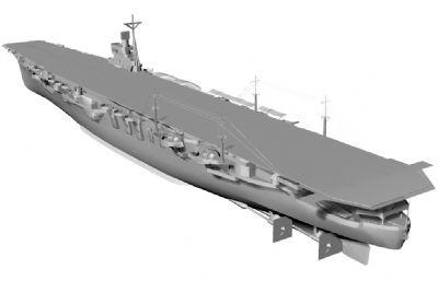 日本�合��云���航空母�STL模型