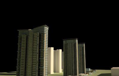 大�B,小�^住宅su模型