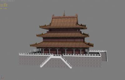 春秋楼,古代楼台3D模型