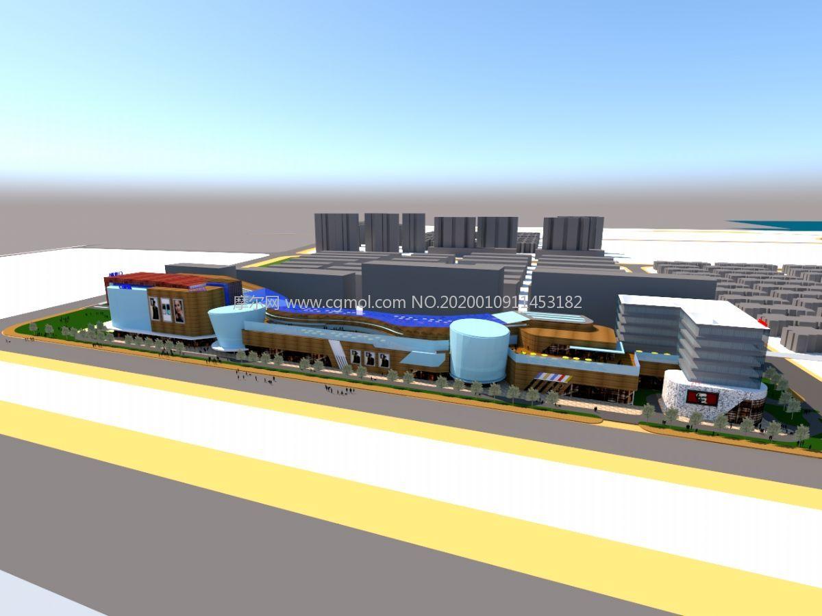 商贸城,商业中心su模型
