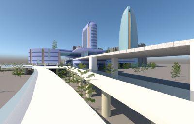 酒店,国际大厦su模型