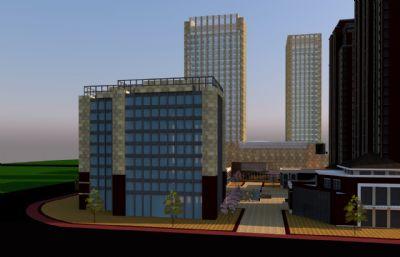 商业楼,商务楼su模型