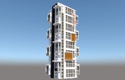 小高层商品房住宅su模型