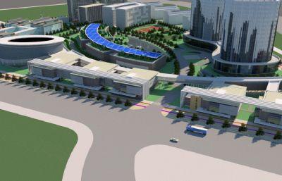 新疆科技创新园su模型