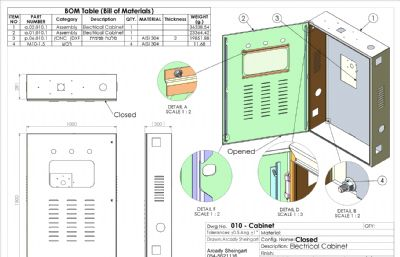 配电箱,配电柜,电器柜solidworks图纸模型