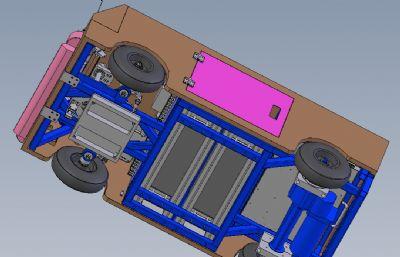 5G自动导航车solidworks模型,有STEP格式