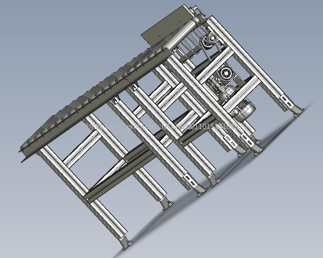 产品运送机,滚筒运送机,输送机STEP格式模型