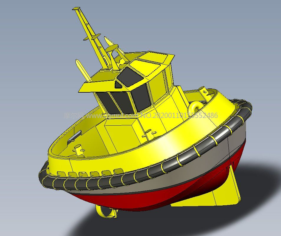 �O船拖船solidworks�D�模型,�有IGS格式