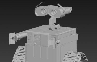 �C器人���T瓦力,瓦力�C器人OBJ模型
