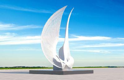 振翅高�w,�p翅膀雕塑�O�3D模型三