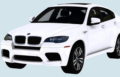 宝马BMW X63D模型,带内部细节,游戏汽车