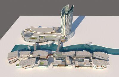 科技�^,城市商�I�k公大��su模型