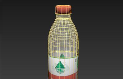 �r夫山泉�V泉水瓶3D模型,FBX格式