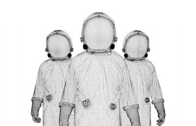 C4D宇航�T高模源文件