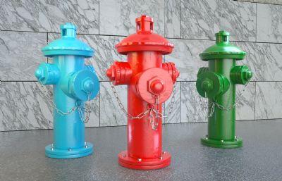 消防栓,消防水口,取水栓,消防器材C4D公共�O施模型,�����L格