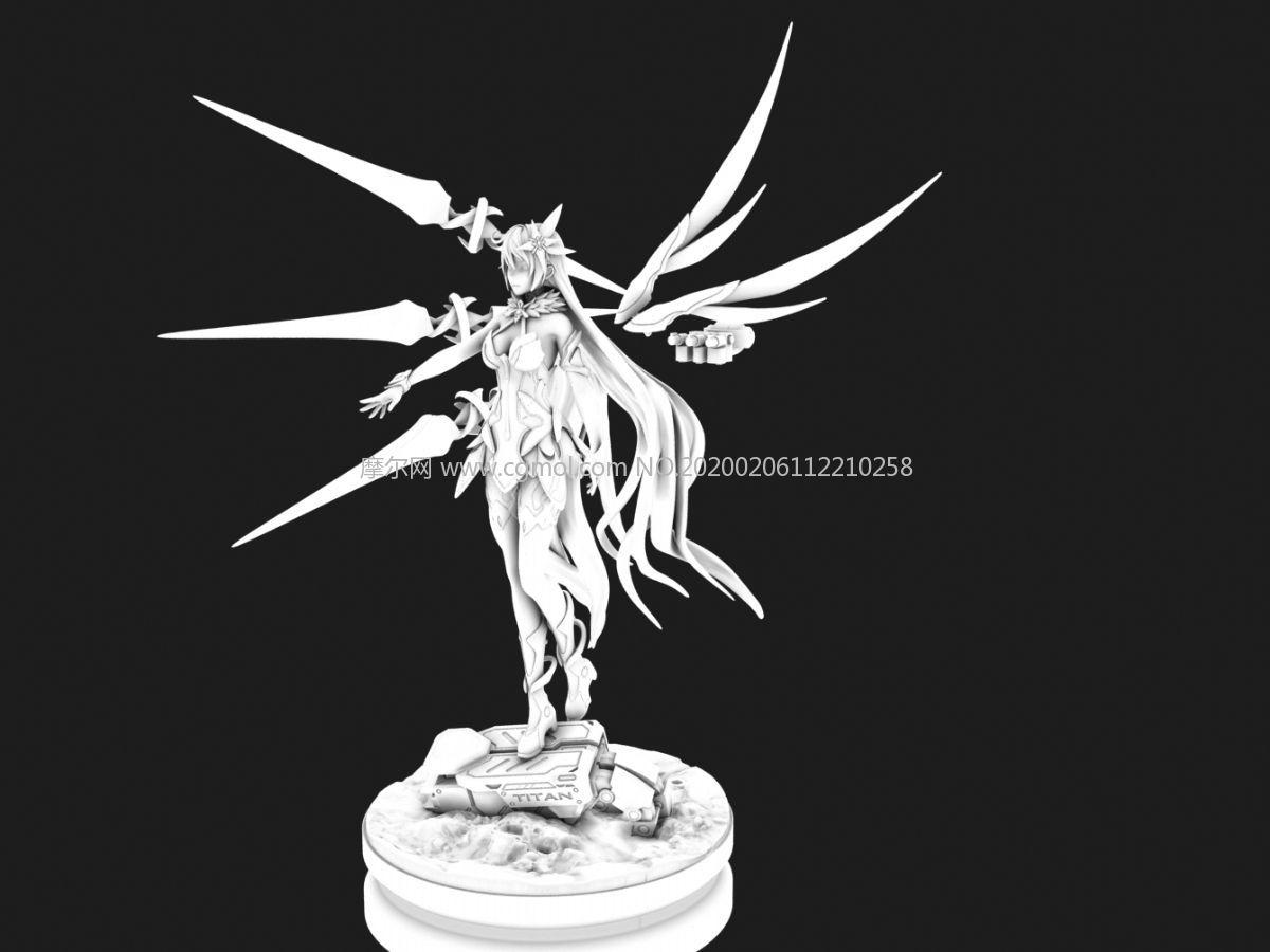 崩�娜�-空之律者女王3d模型,OBJ格式模型,30��OBJ模型文件�M合(�W�P下�d)