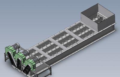 三渠道物料�魉头蛛x�C器solidworks模型